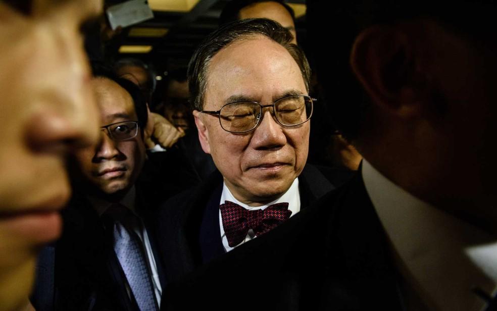 O ex-chefe do executivo de Hong Kong, Donald Tsang, em imagem de arquivo (Foto: Anthony Wallace / AFP Photo)