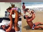 Paizão, Henri Castelli mostra exercício preferido: 'levantamento de filhos'