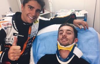 Dois pilotos são atropelados em cena assustadora na Moto3 na Austrália