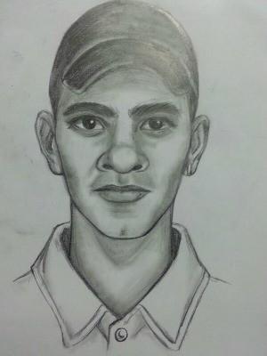 Polícia fez retrato falado de suspeito de mandar SMS (Foto: Divulgação/ Polícia Civil-MT)