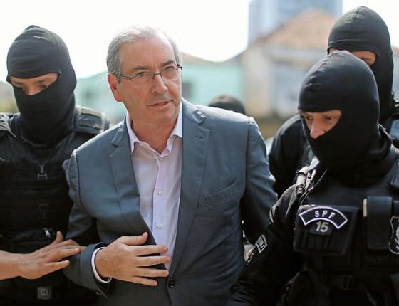 O ex-deputado Eduardo Cunha é preso (Foto:  HEULER ANDREY/AFP)