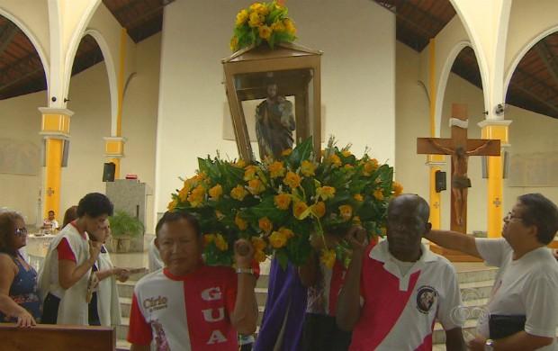 Santo é considerado protetor e exemplo de pai (Foto: Reprodução/Amapá TV)