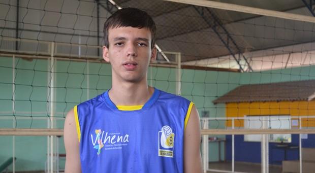 Lucas Crispin, de 14 anos, disse que não esperava ser convocado (Foto: Lauane Sena)