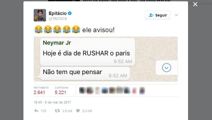 taco, neymar, promessa (Foto: reprodução / Twitter)