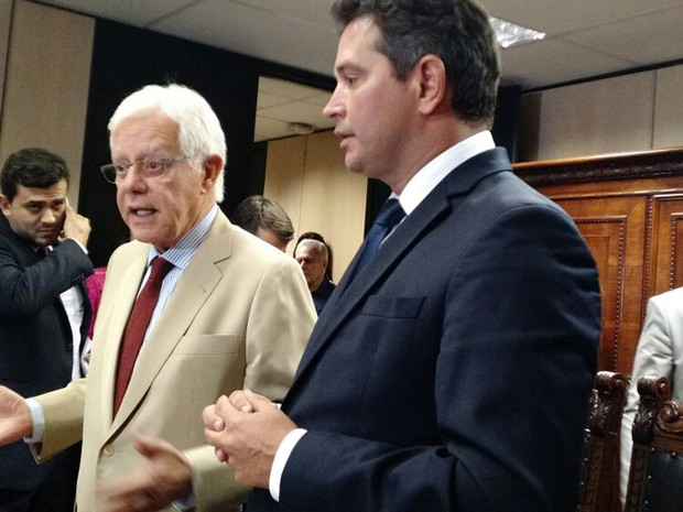 Moreira Franco e Maurício Quintella Lessa (Foto: Laís Alegretti/G1)