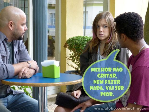 Que fase, Lia! A marretinha não consegue ficar em paz (Foto: Malhação / TV Globo)