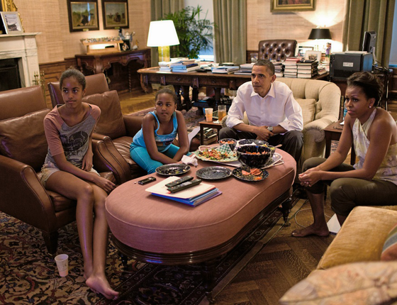 Primeiro presidente negro, Obama se expôs com a família (Foto:  Pete Souza/The White House via Getty Images)
