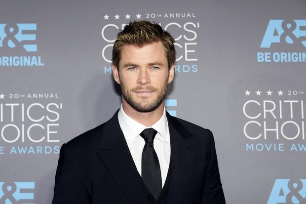 Chris Hemsworth em premiação em Los Angeles, nos Estados Unidos (Foto: Kevork Djansezian/ Reuters)