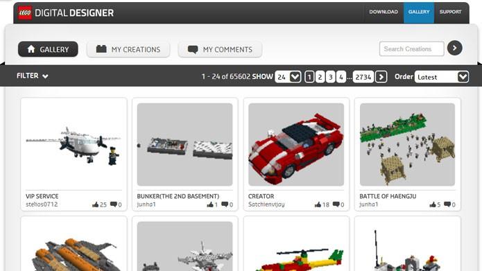 Baixe modelos prontos na galeria do Lego Digital Designer (Foto: Reprodução/Tais Carvalho)