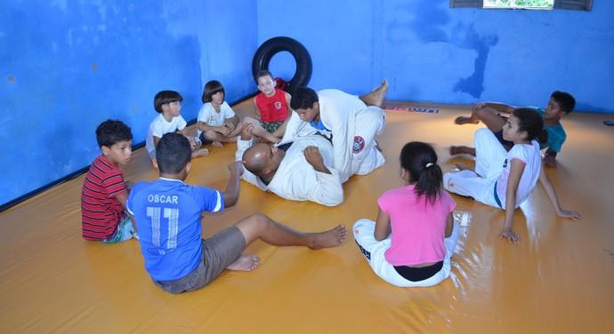 isac lucas de carvalho, golias, jiu-jítsu (Foto: Lucas Barros / GloboEsporte.com/pb)