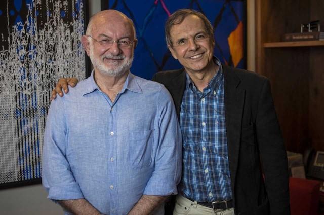 Silvio de Abreu é o entrevistado de Hermes Frederico na série 'Donos da História' (Foto: Alex Carvalho)