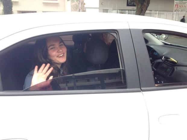 Isabele Benedik, de 16 anos, perdeu a prova em Curitiba.  (Foto: Daiane Baú/G1)