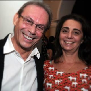 José Wilker e Claudia Montenegro  (Foto: Ana Maria Braga / Instagram )