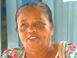 A aposentada Valnir foi à agência do INSS em Rondonópolis, mas não foi atendida (Foto: Reprodução/TVCA)