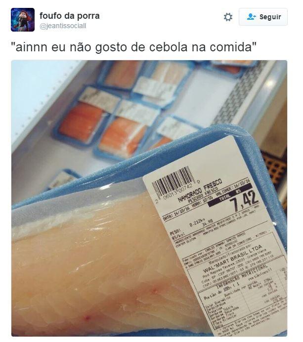 Até embalagem de peixe vira meme no Twitter! (Foto: Twitter / Reprodução)