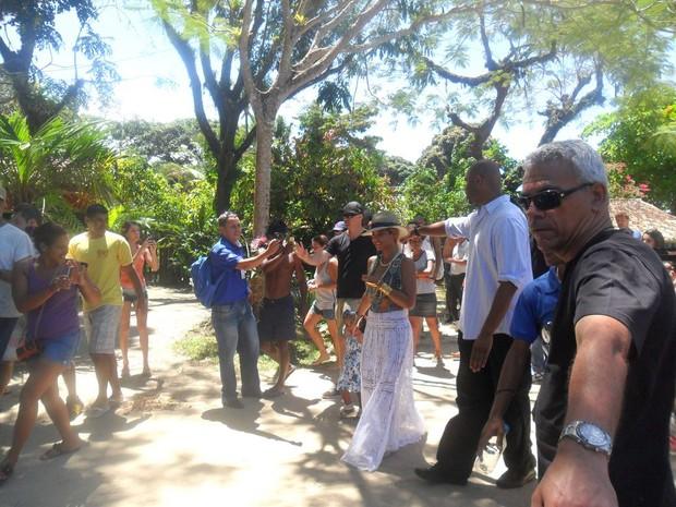 Beyoncé em Trancoso (Foto: André Freitas / AgNews)