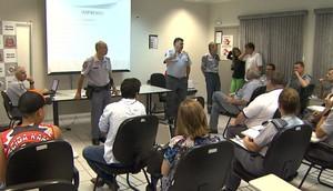 Polícia Militar faz esquema de segurança para Come-Fogo (Foto: Reprodução EPTV)