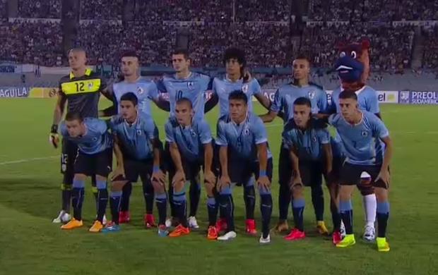 Mascote do Uruguai; Brasil x Uruguai; Sul-Americano Sub-20 (Foto: Reprodução SporTV)