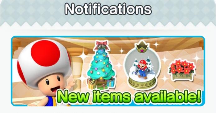 Super Mario Run também ganhou itens de Natal (Foto: Reprodução / TechTudo)