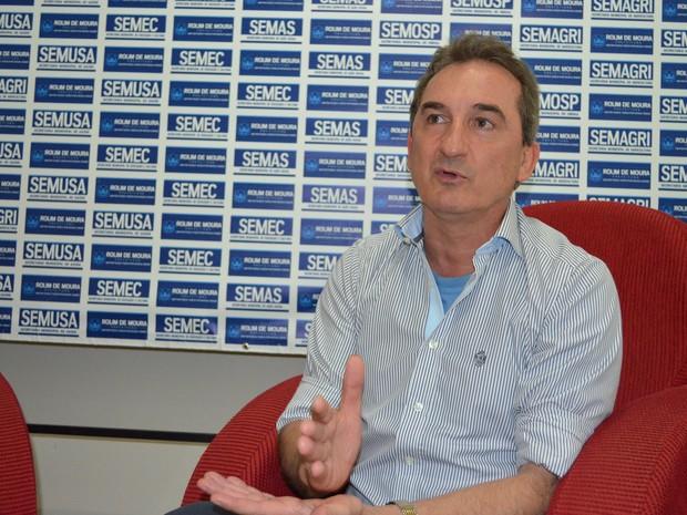 Prefeito alega que situação financeira de Rolim de Moura é grave (Foto: Rogério Aderbal/G1)