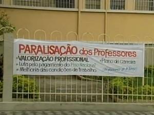 DIV Paralisação Professores Divinópolis (Foto: TV Integração/Reprodução)