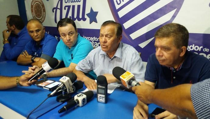 Apresentação elenco do CSA (Foto: Augusto Oliveira/GloboEsporte.com)