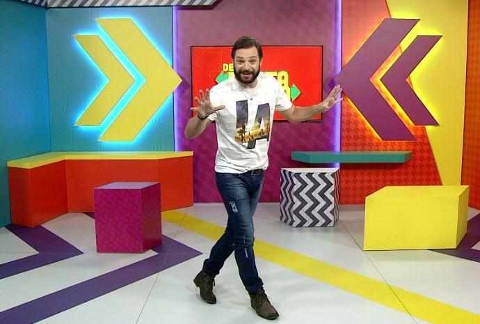 Mateus Luz quer espantar o mal humor, junto com você (Foto: Reprodução / TV TEM)