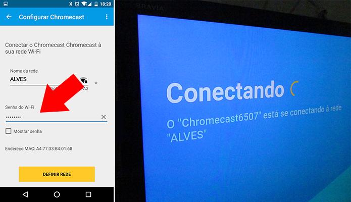 Conecte o Chromecast 2 à rede Wi-Fi (Foto: Paulo Alves/TechTudo)