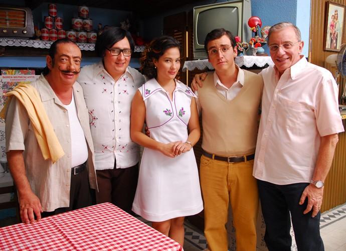 Keli participu do seriado 'A Grande Família' como Dona Nenê (Marieta Severo) mais jovem, em 2011 (Foto: Alex Carvalho/TV Globo)