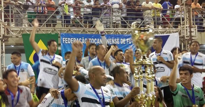 Sparta vence o Colinas e fica com a taça da Segundona (Foto: Lucas Ferreira/ TV Anhanguera)