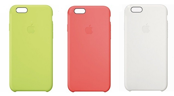 9a4ff6109 Capa de silicone da Apple para iPhone 6 Plus (Foto  Reprodução Lojas  Americanas