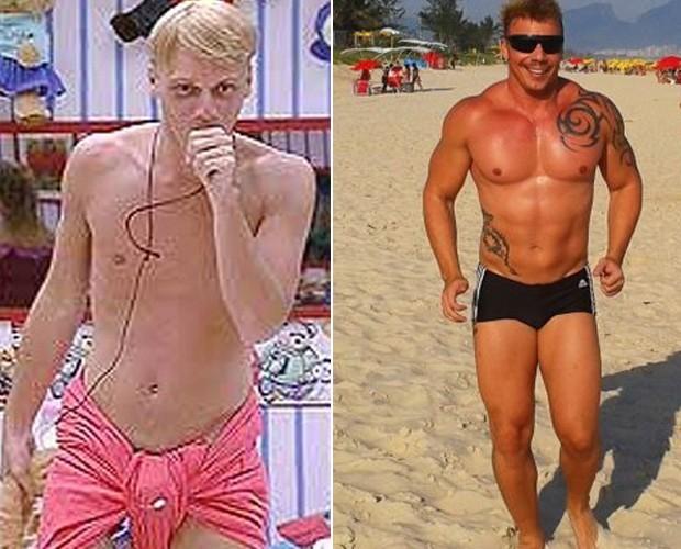 cristiano bbb antes e depois' (Foto: BBB/TvGlobo)