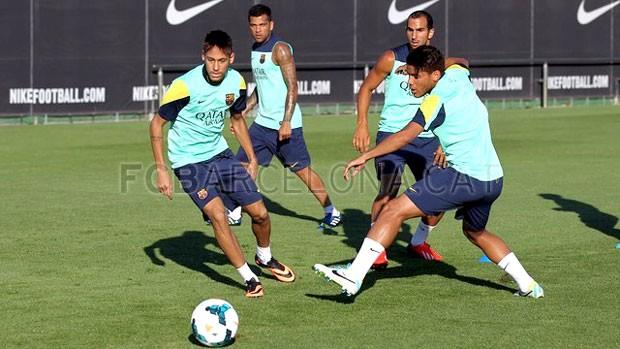 Neymar treino Barcelona (Foto: Divulgação / Site Oficial do Barcelona)