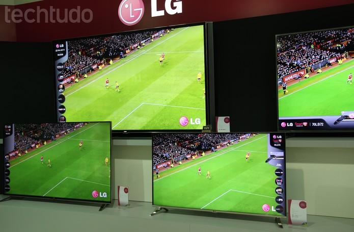 Exposição de Tvs na LG Digital Experience 2014 (Foto: Pedro Cardoso/ TechTudo)