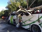 Análise preliminar indica falha no freio de ônibus envolvido em acidente