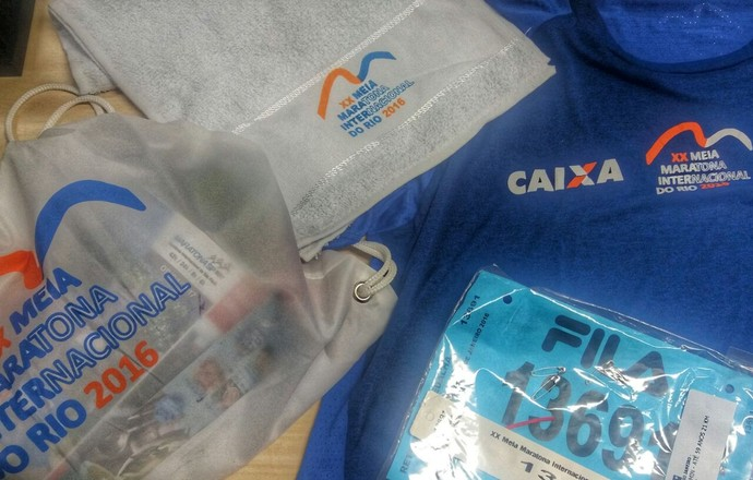 Kit Meia Maratona do Rio 2016 euatleta (Foto: Renata Domingues)