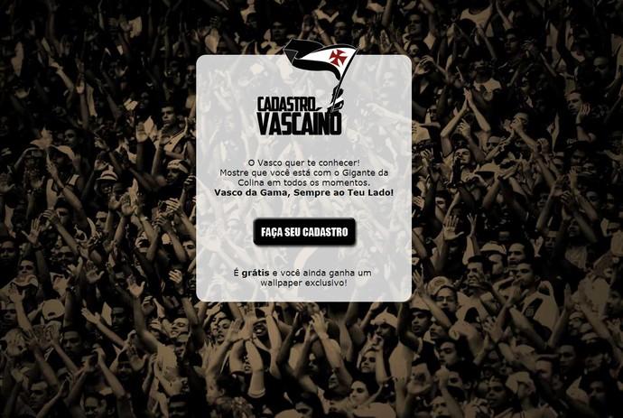 site vasco (Foto: Reprodução/Vasco)