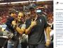 Nos EUA, Felipe Massa acompanha derrota do Miami Heat para os Knicks