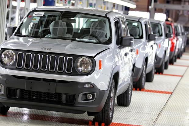 Jeep Renegade na fábrica de Goiana (PE) (Foto: Juca Varela/FCA)