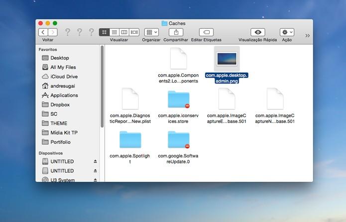 Clique na pasta foto indicada e salve em seu desktop (Foto: Reprodução/André Sugai)