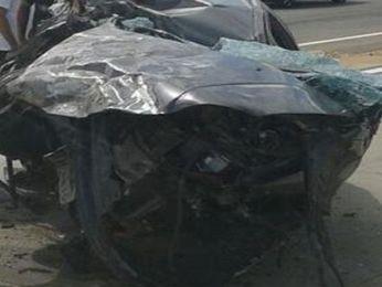 Após colisão, carro percorreu cerca de 10 metros  (Foto: Reprodução/TV Sergipe)