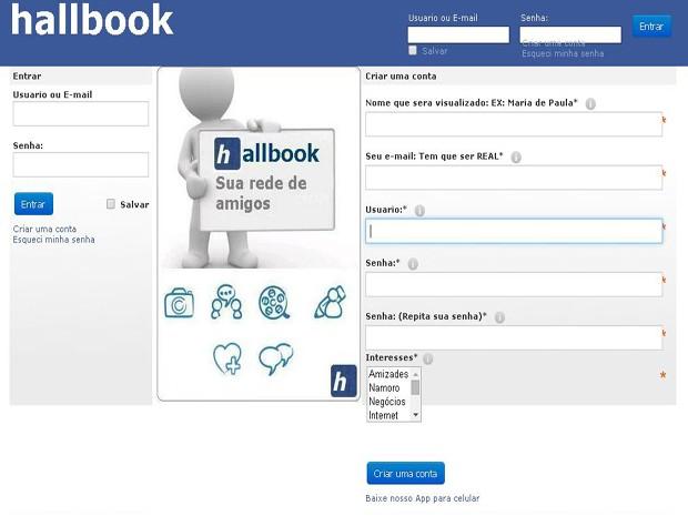Hallbook se assemelha ao Facebook (Foto: Júnior Hallak/Divulgação)