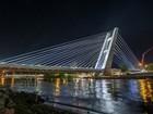 Linha 4: Ponte Estaiada da Barra passa por testes de iluminação