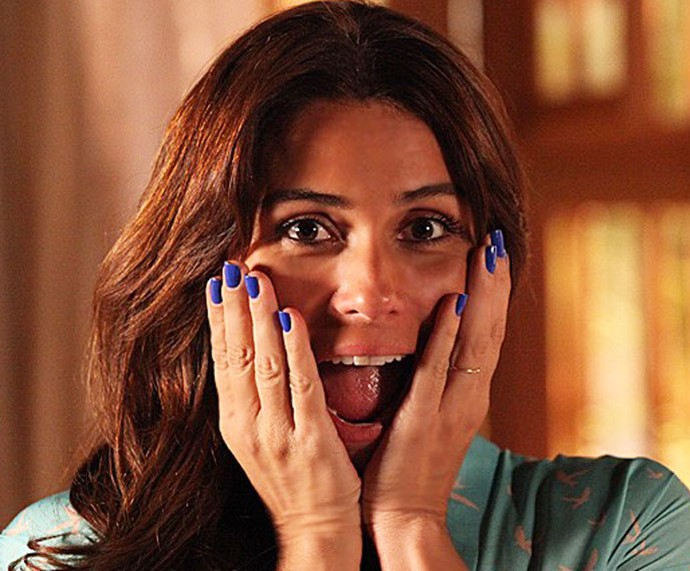 O esmalte azul de Giovanna na novela 'Em Família' virou febre (Foto: Carol Caminha / TV Globo)