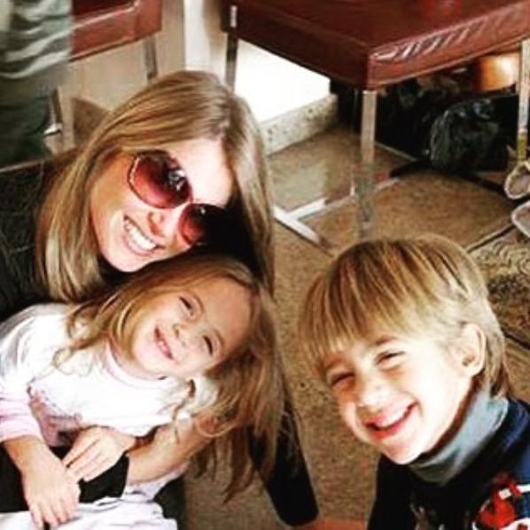 Susana Werner com os filhos Cauet e Giulia (Foto: Reprodução/Instagram)