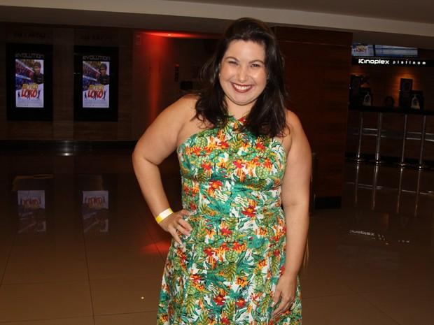 Mariana Xavier em estreia de filme na Zona Sul do Rio (Foto: Rogério Fidalgo e Marcello Sá Barretto/ Ag. News)