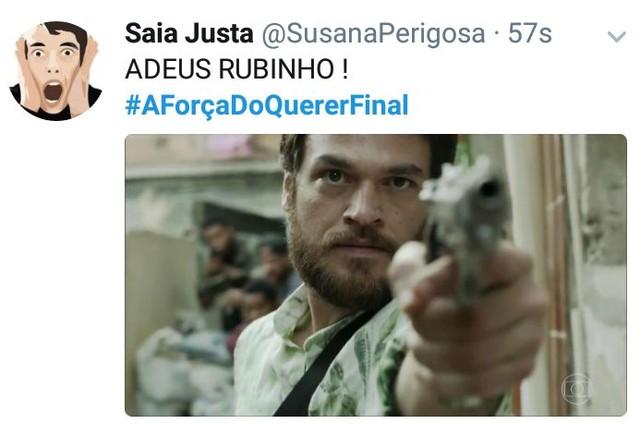 A morte de Rubinho (Emilio Dantas) foi comemorada (Foto: Reprodução)