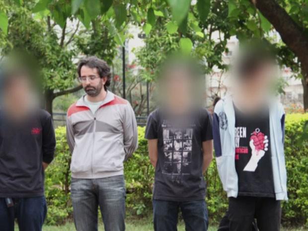 Capitão do exército estaria infiltrado entre manifestantes presos em SP, segundo denúncia (Foto: Reprodução/TVGlobo)