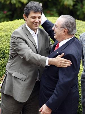 Maluf e Haddad em encontro em SP (Foto: Epitácio Pessoa/Agência Estado)
