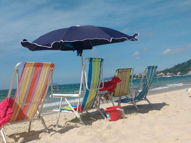 Domingo (8) deve ser típico de verão em Santa Catarina (Foto: Fernanda Burigo/G1)